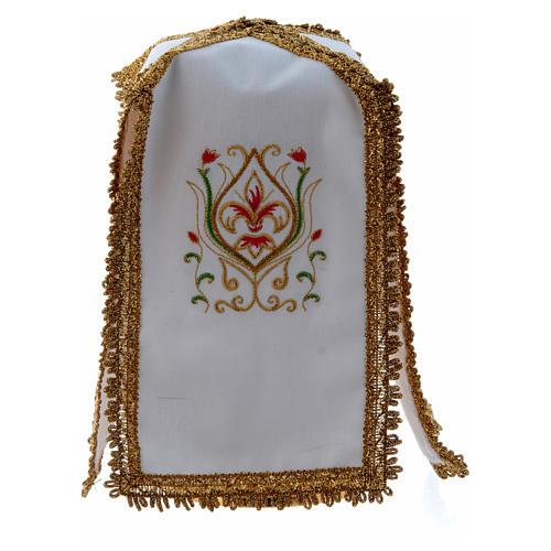Ciborium Veil with cross in pure cotton 1