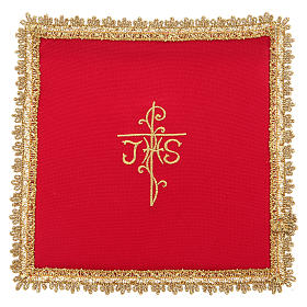 Chalice veil in Vatican fabric, polyester with removable card s3