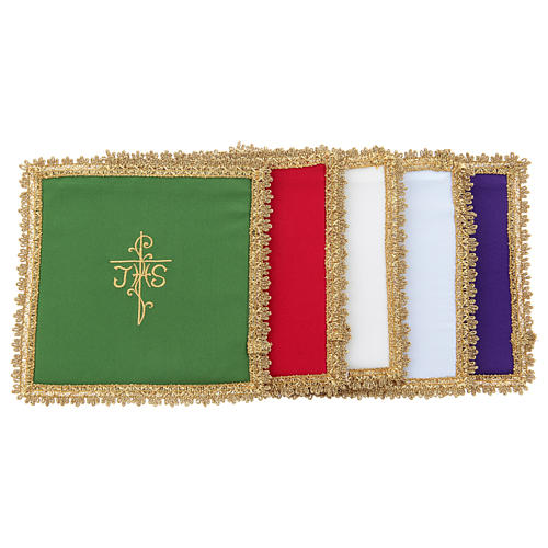 Chalice veil in Vatican fabric, polyester with removable card 1