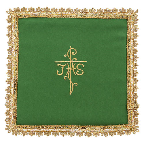 Chalice veil in Vatican fabric, polyester with removable card 2