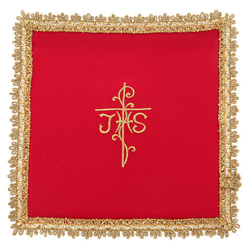 Chalice veil in Vatican fabric, polyester with removable card 3