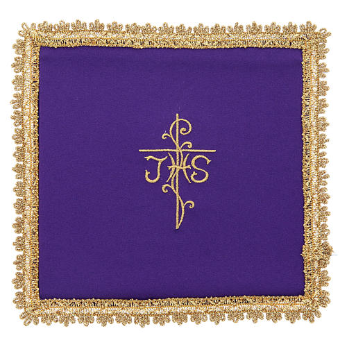 Chalice veil in Vatican fabric, polyester with removable card 6
