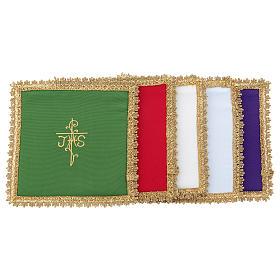 Linges d'autel: Voile de calice pale Vatican polyester carton amovible