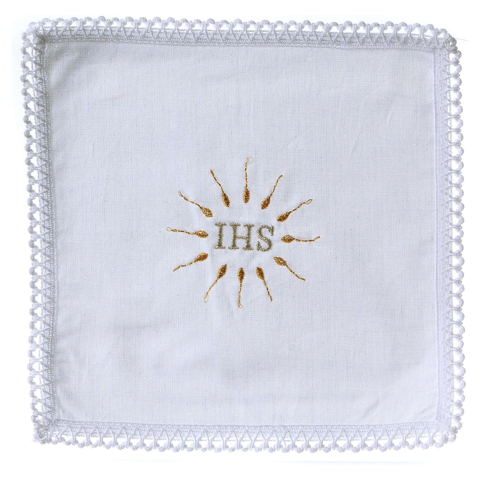 Linge d'autel IHS en pur coton 4