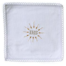 Linge d'autel IHS en pur coton s1