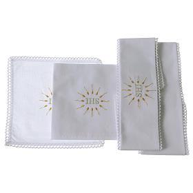 Linge d'autel IHS en pur coton s2