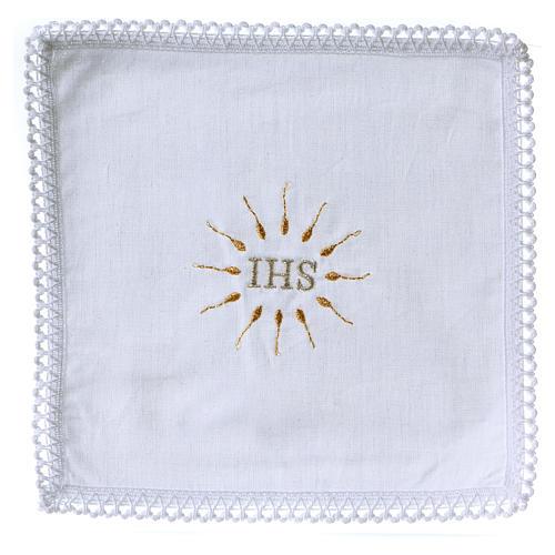 Linge d'autel IHS en pur coton 1
