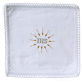 Church Altar Cloth Set with IHS in pure cotton s1