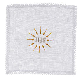 Servizio da messa IHS in puro lino s1