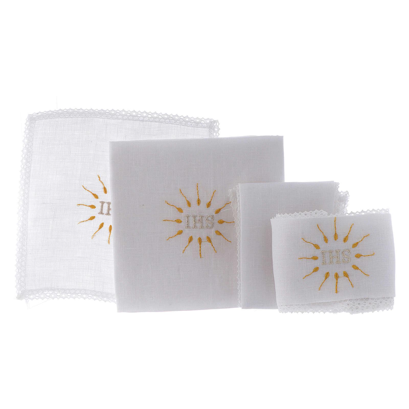 IHS Altar Linen Set 100% pure linen 4