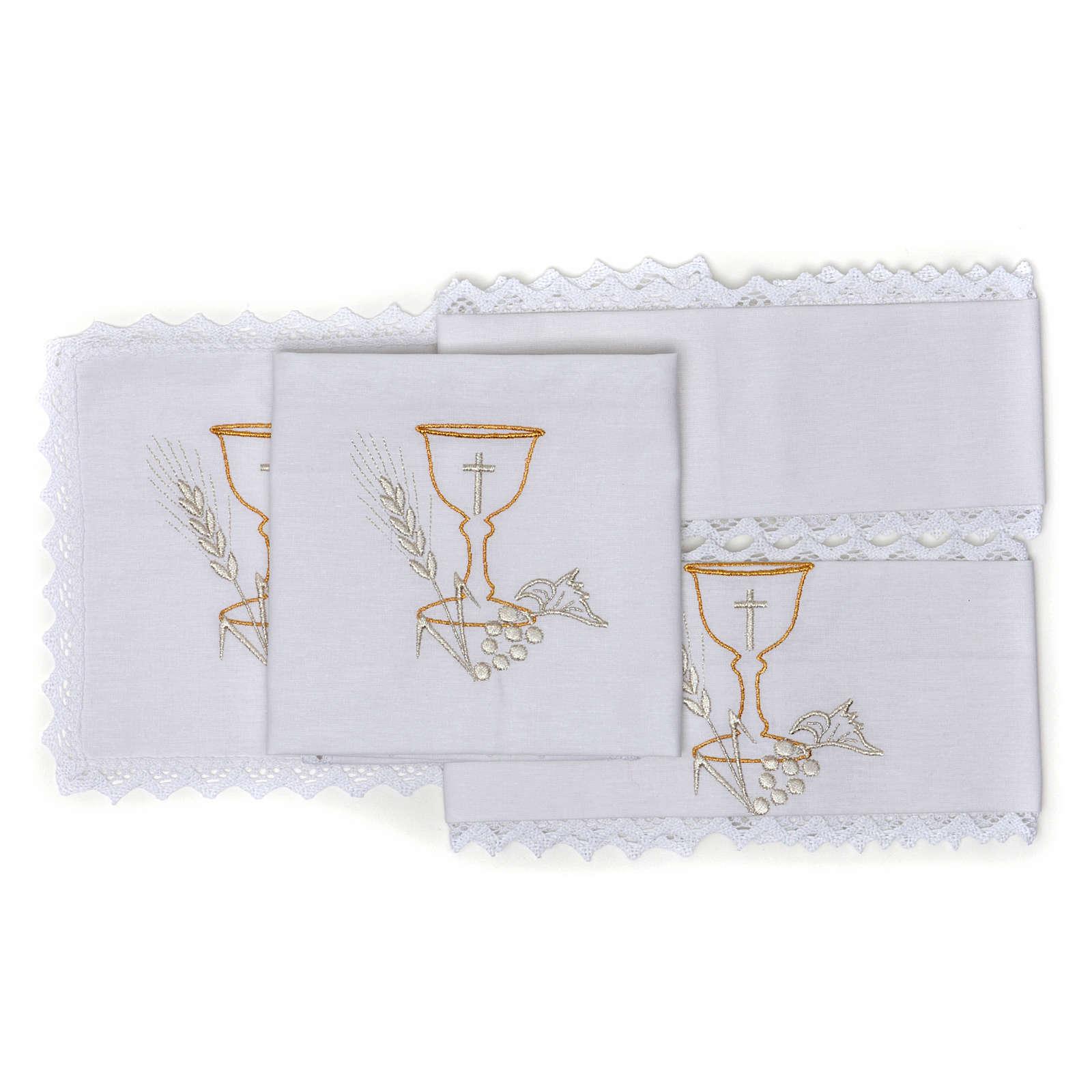 Linge d'autel calice en pur coton 4