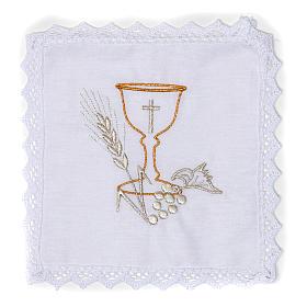 Linge d'autel calice en pur coton s1