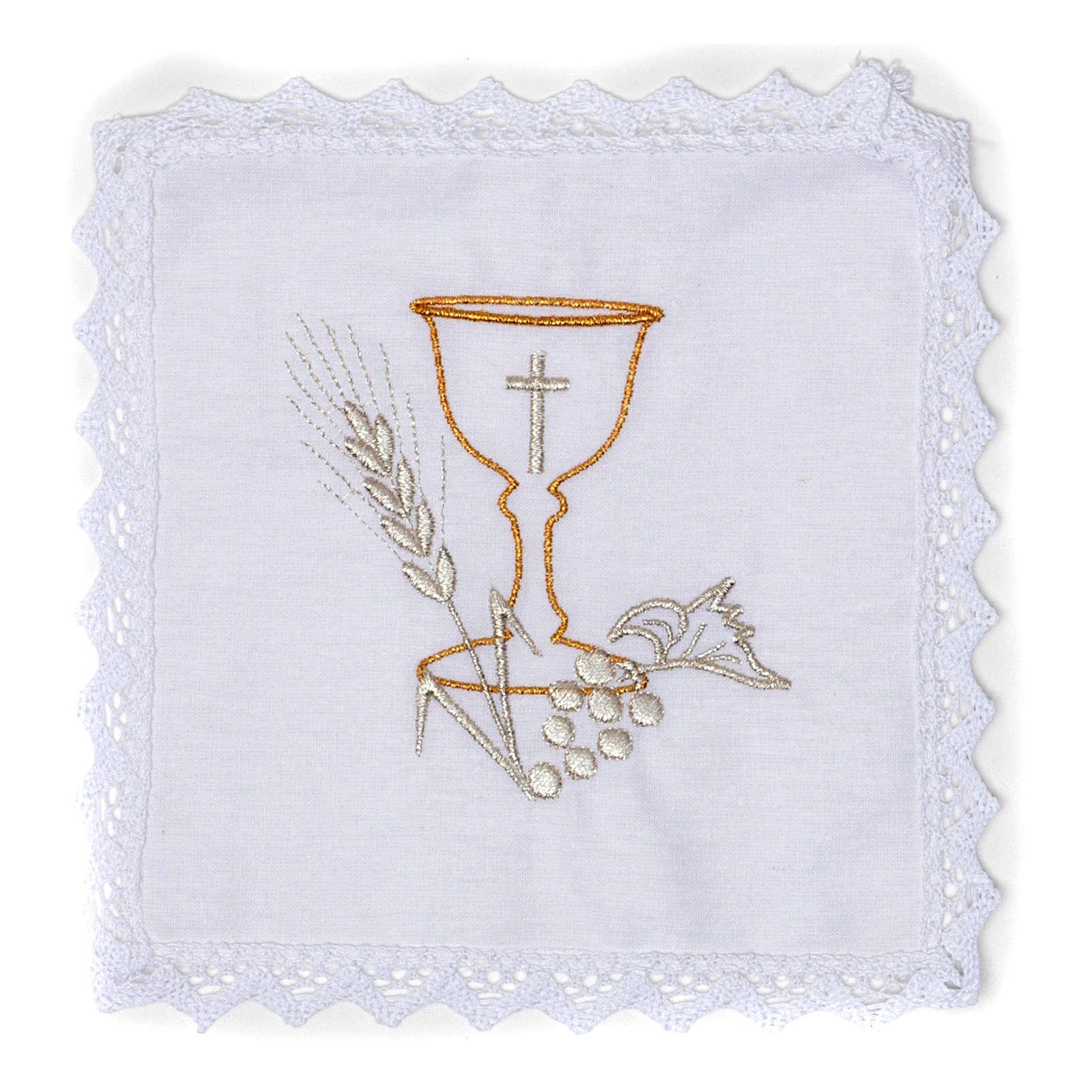 Servizio da altare Calice in puro lino 4