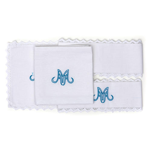 Marian Liturgical set with in pure linen 2