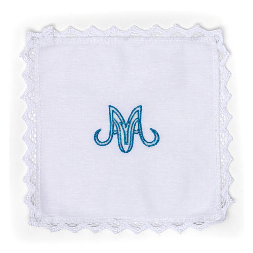 Marian Altar Set in pure linen 1