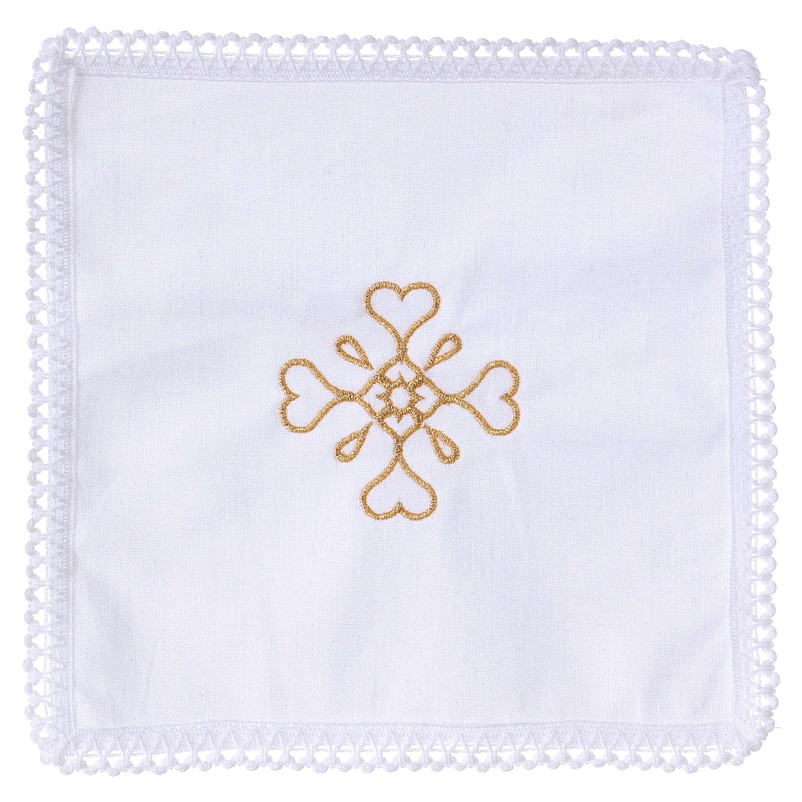 Linge d'autel croix en pur coton 4