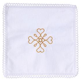 Linge d'autel croix en pur coton s1