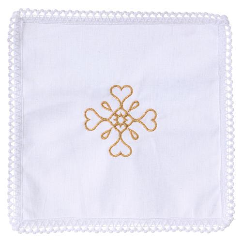 Linge d'autel croix en pur coton 1
