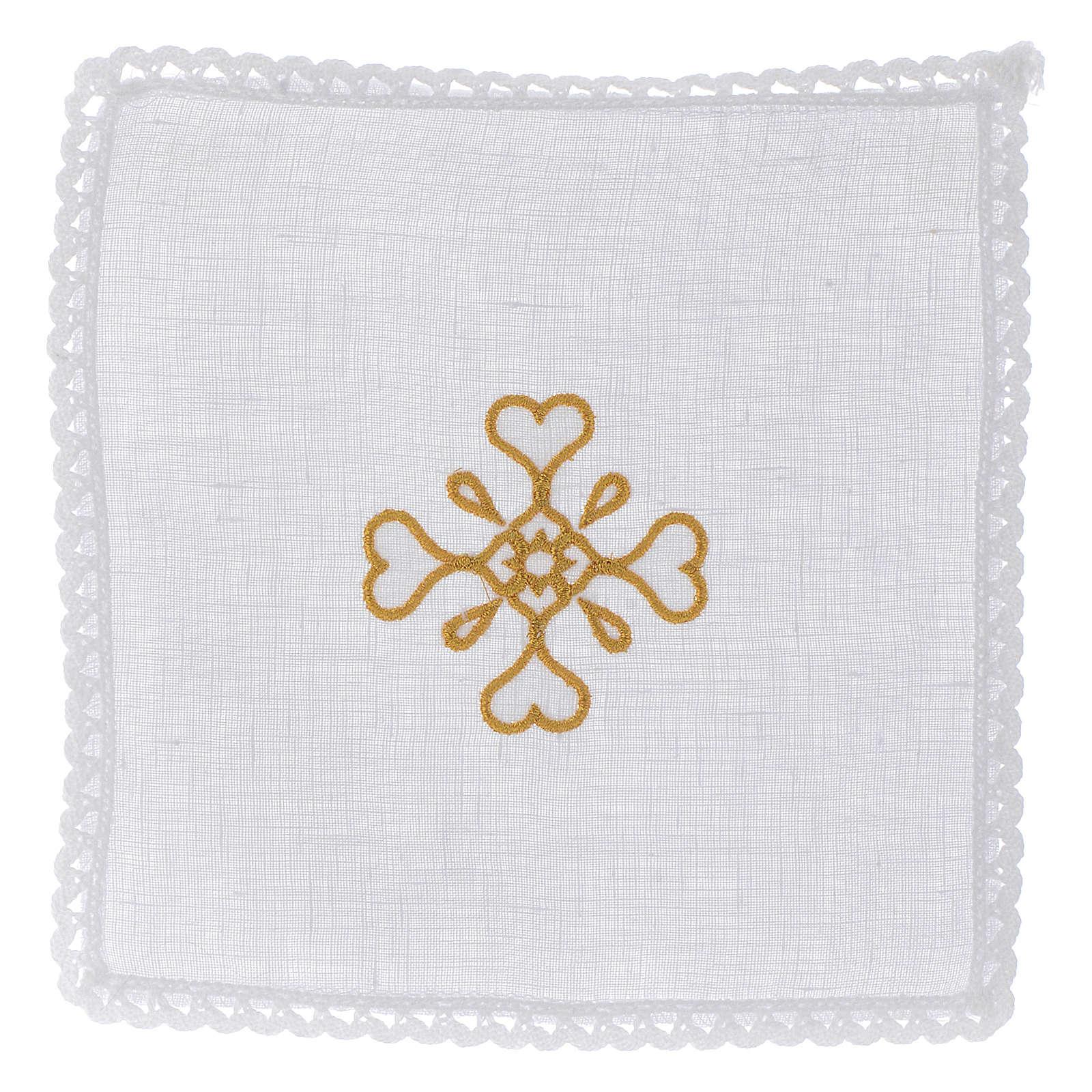 Servizio da altare Croce in puro lino 4