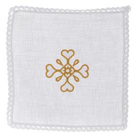 Servizio da altare Croce in puro lino s1