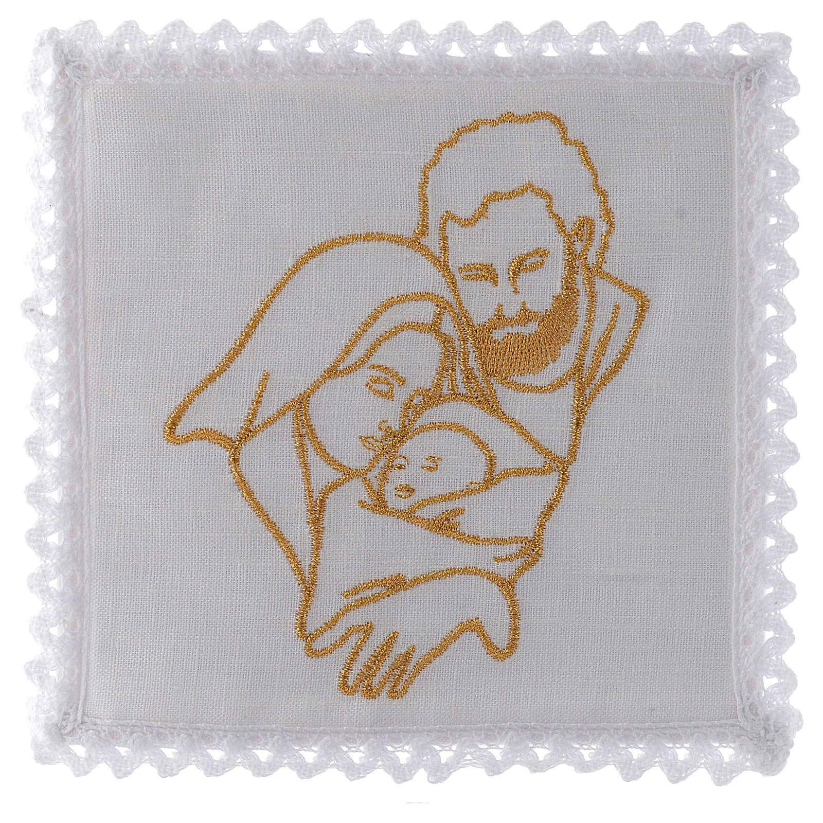 Servizio da messa in lino con la Sacra Famiglia 4