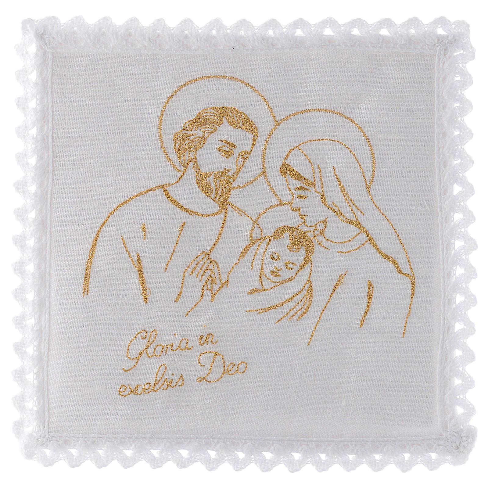 Altar linen set 100% linen Holy Family 4