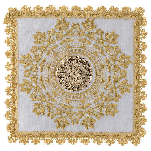 Servizio altare con decoro dorato in stile gotico lino 1