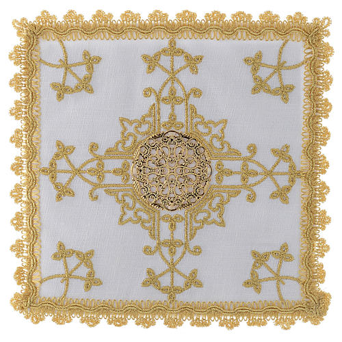 Servicio para la eucaristía con cruz de oro hilo 1