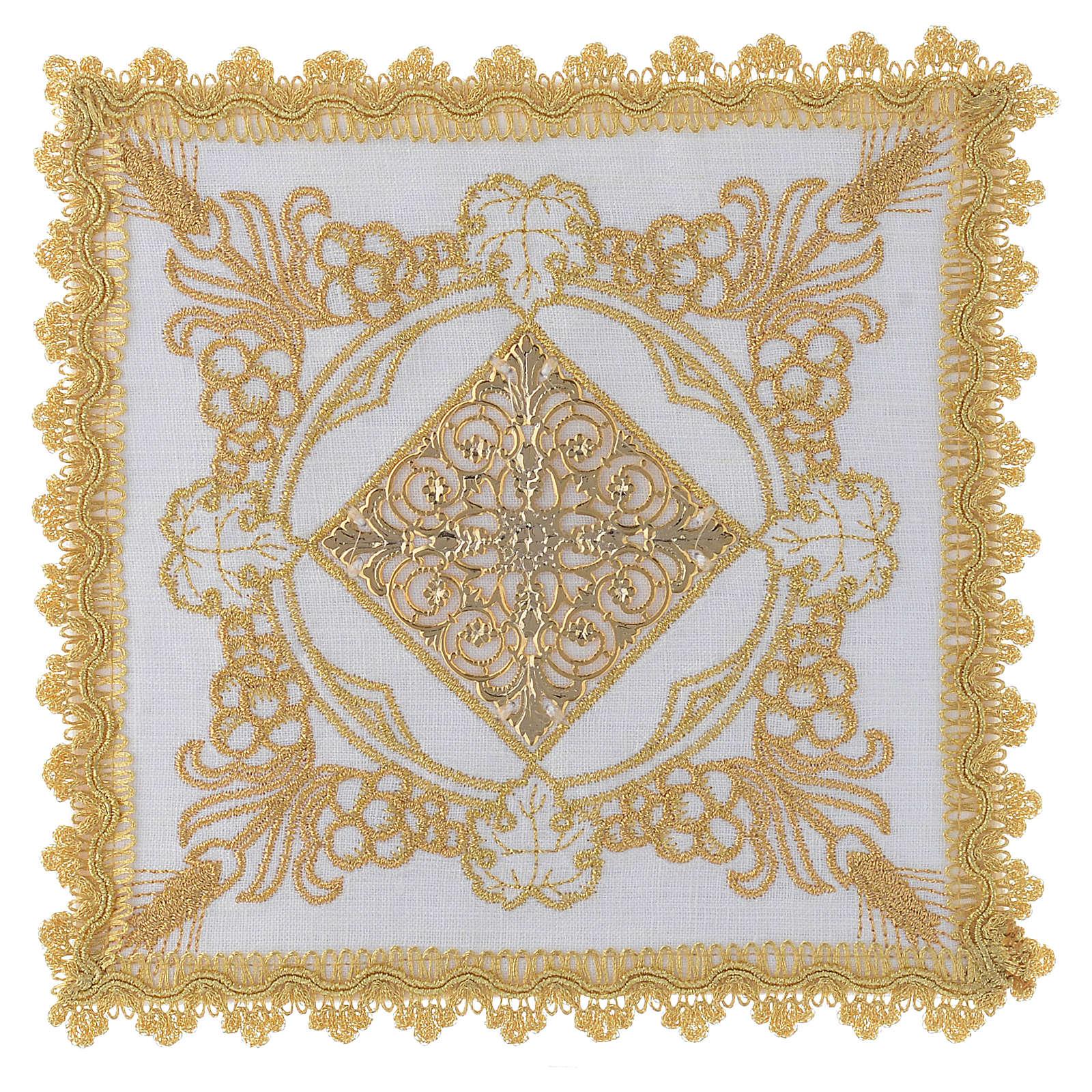 Linge d'autel avec décorations en or lin 4