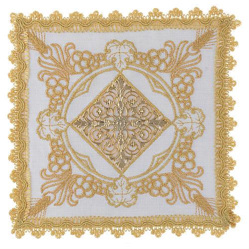 Linge d'autel avec décorations en or lin 1