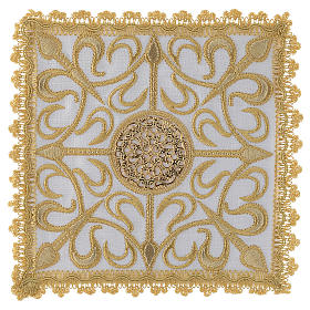 Altar linen set with cross and golden designs 100% linen s1
