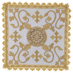 Linges d'autel: Set linge d'autel en lin doré