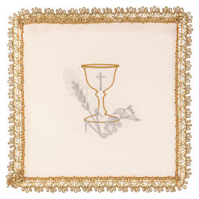 Chalice Veil (Pall) with Chalice decoration and Removeable Insert s4