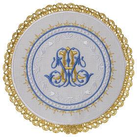 Conjunto altar 100% linho pala redonda mariana s1