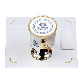 Conjunto altar 100% linho pala redonda mariana s2