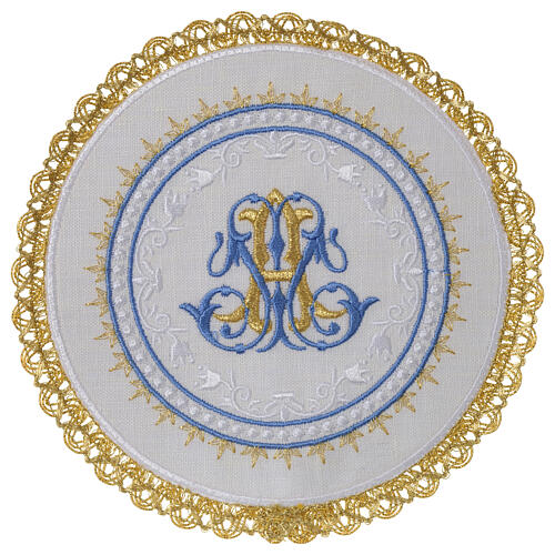 Conjunto altar 100% linho pala redonda mariana 1