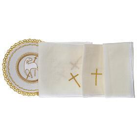 Conjunto altar 100% linho pala redonda Cordeiro Imolado s3
