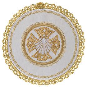 Servizio da altare 100% lino palla tonda Conchiglia Battesimale s1