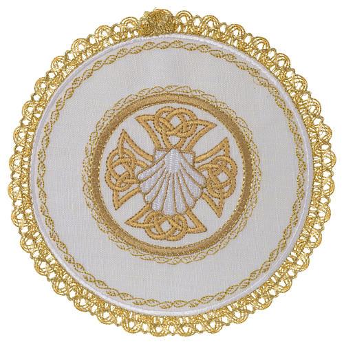 Servizio da altare 100% lino palla tonda Conchiglia Battesimale 1
