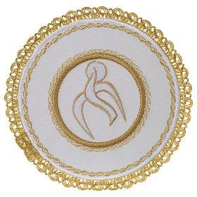 Servizio da altare 100% lino palla tonda Spirito Santo s1