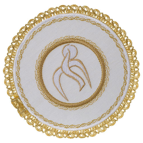 Servizio da altare 100% lino palla tonda Spirito Santo 1