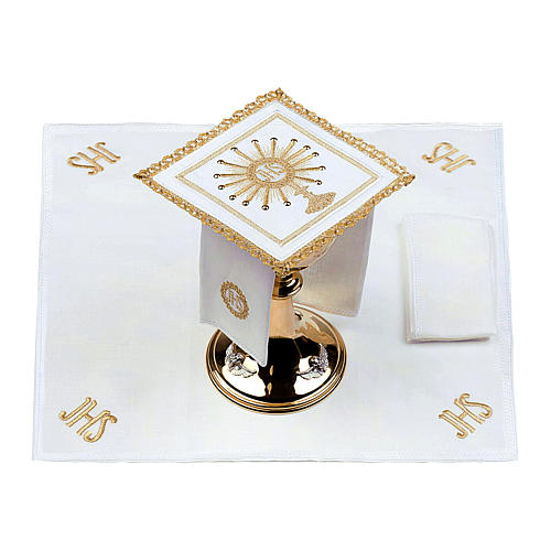 Altar linen set monstrance with glass appliques 100% linen 2