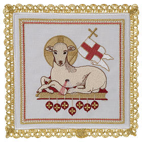 Altar linens: Altar linens set 100% linen Lamb of God
