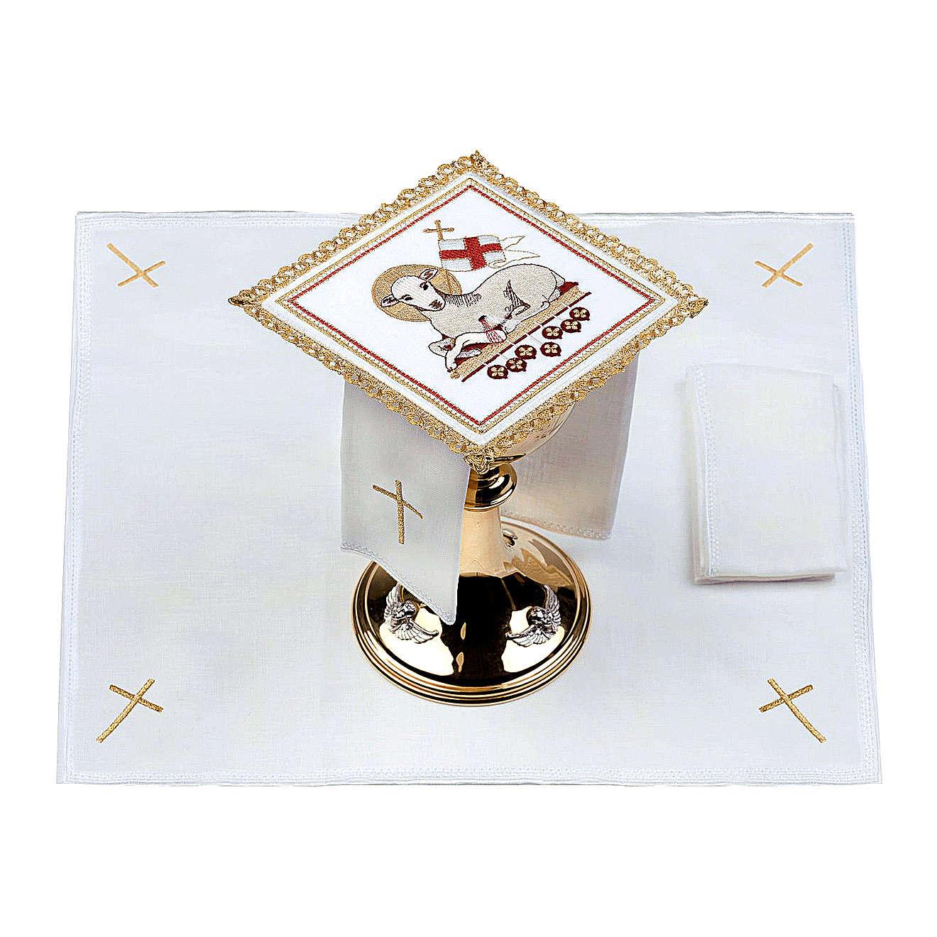 Lamb of God altar linen set 100% linen 4