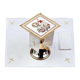 Lamb of God altar linen set 100% linen s2