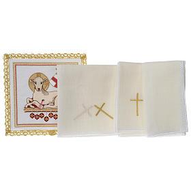 Lamb of God altar linen set 100% linen s3