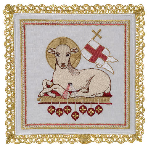 Lamb of God altar linen set 100% linen 1