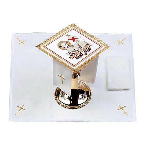 Lamb of God altar linen set 100% linen 2