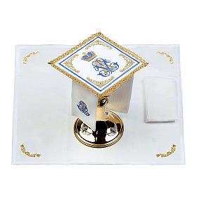 Linge d'autel 100% lin marial Couronne s2