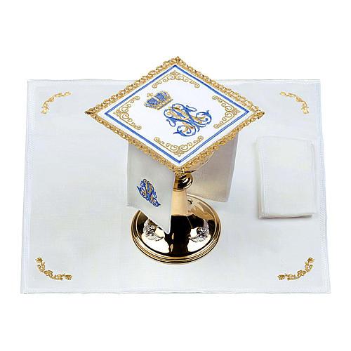 Linge d'autel 100% lin marial Couronne 2
